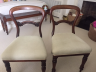 Repaired top rails on Chairs