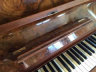 Handmade music stand for piano lid