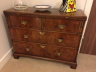Restored & re-polished Walnut Chest of Drawers.